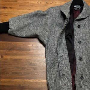 Jackets & Blazers - Vintage Black and Gray Wool Dolman Sleeve Coat
